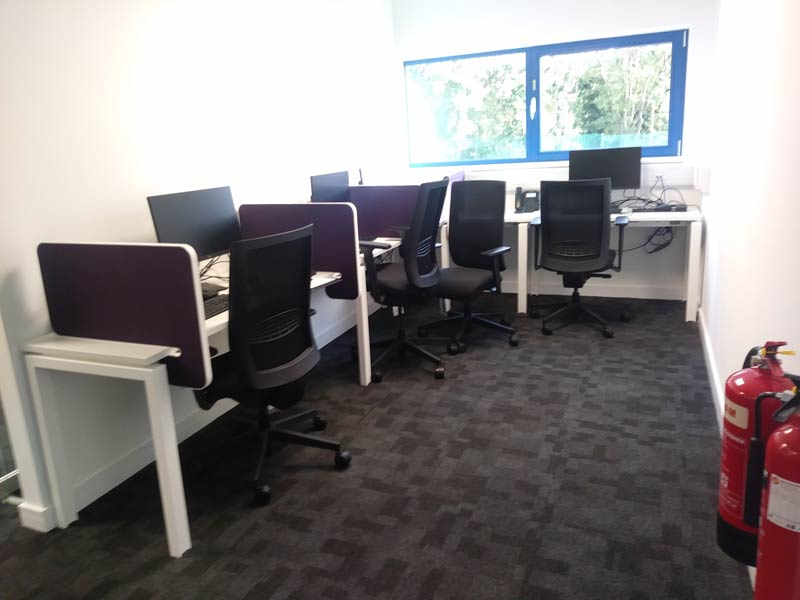 Desks and work space after refurbishment