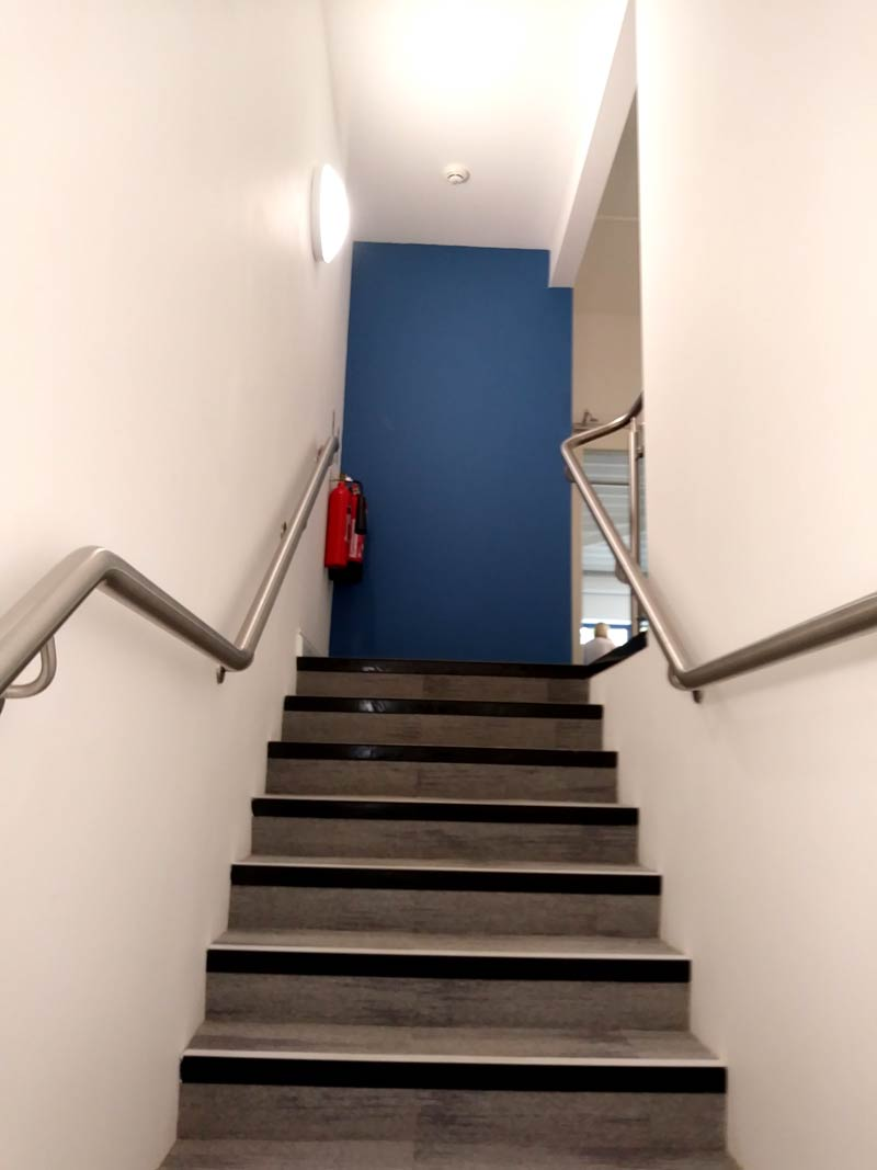 stair-well to office after work space fit out