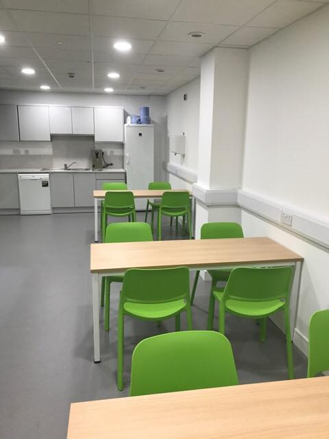 Kitchen area - Finished fit out project Warwick Leamington Spa