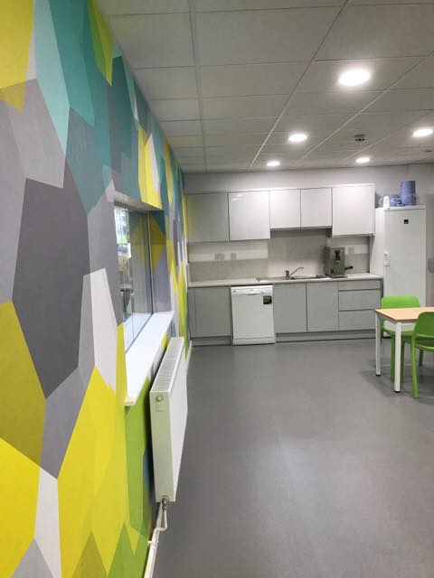 Kitchen area Finished fit out project Warwick Leamington Spa